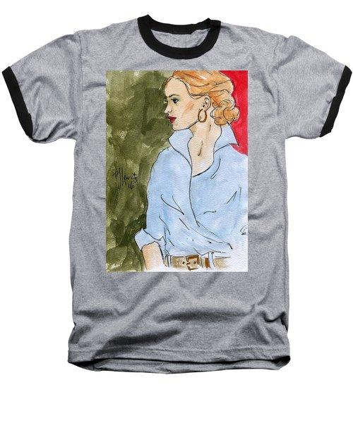 Blue Shirt Baseball T-Shirt