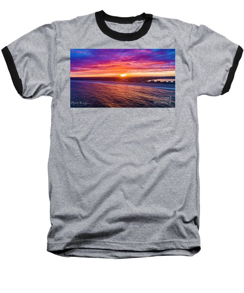 Blue Shutter East Beach Baseball T-Shirt