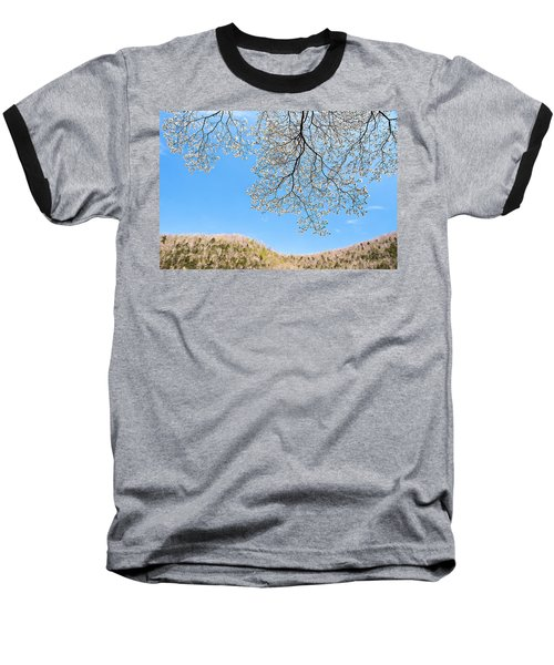 Baseball T-Shirt featuring the photograph Blue Skies And Dogwood by Tamyra Ayles