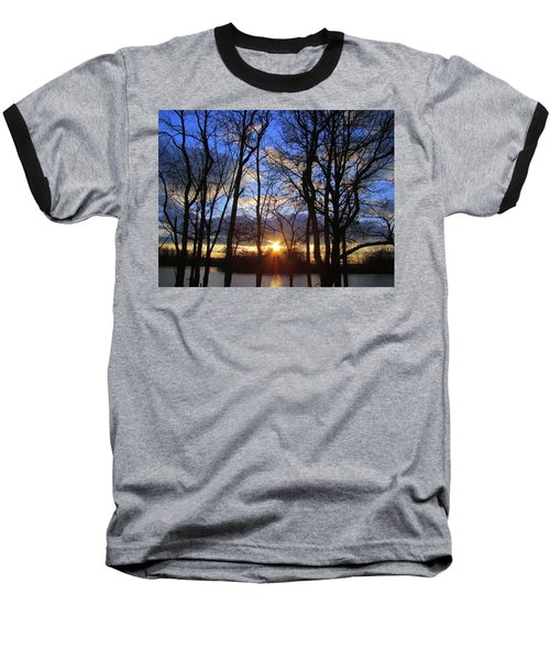 Baseball T-Shirt featuring the photograph Blue Skies And Golden Sun by J R Seymour