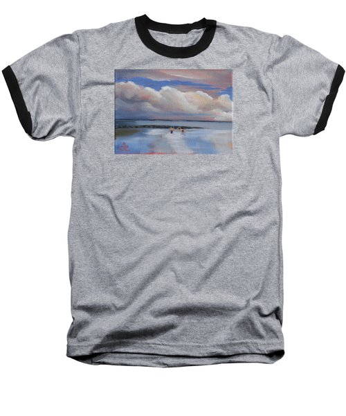 Blue Sky And Clouds I Baseball T-Shirt