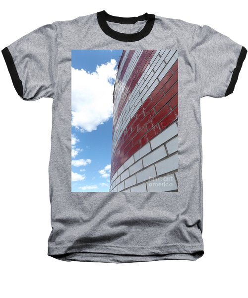 Blue Sky Brick Flag Baseball T-Shirt