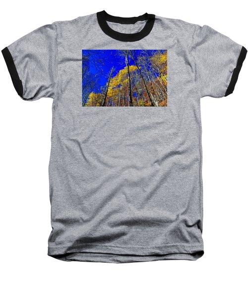 Blue Sky In Fall Baseball T-Shirt by Paul Mashburn