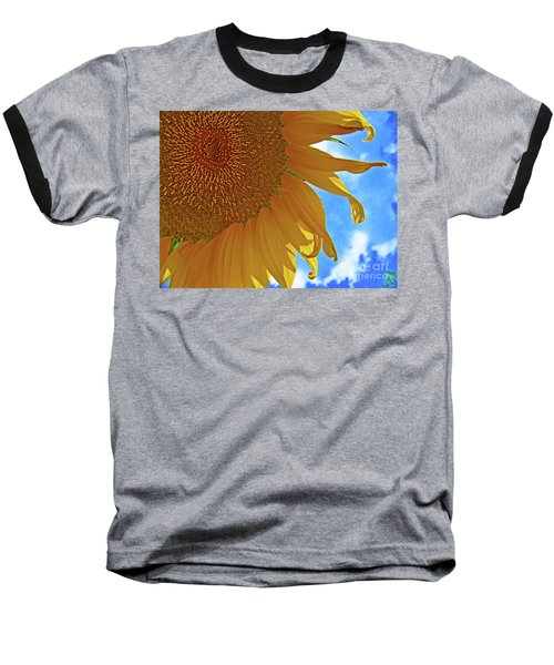 Blue Sky Sunflower Baseball T-Shirt