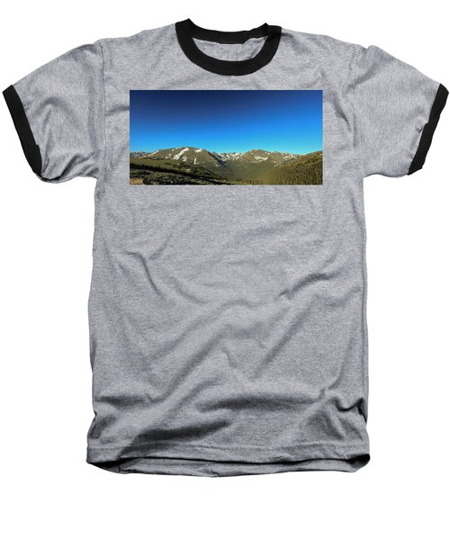 Blue Skys Over The Rockies Baseball T-Shirt
