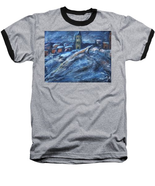 Blue Snow City Baseball T-Shirt