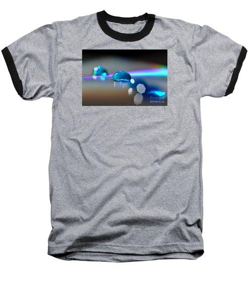 Blue Sparks Baseball T-Shirt by Sylvie Leandre