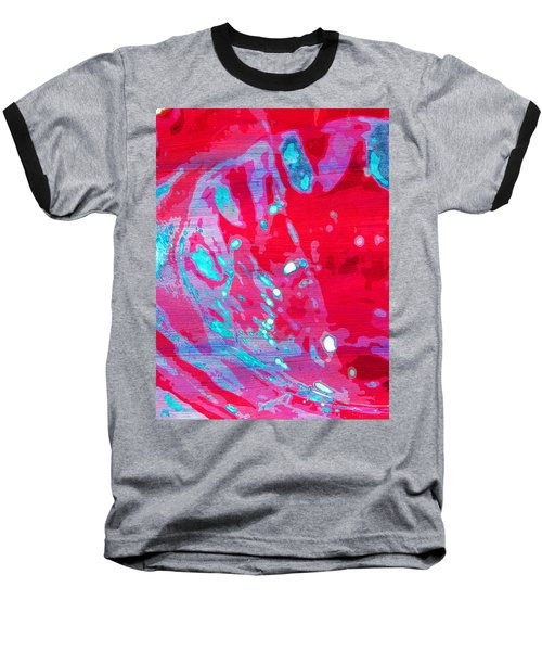 Blue Splash Baseball T-Shirt