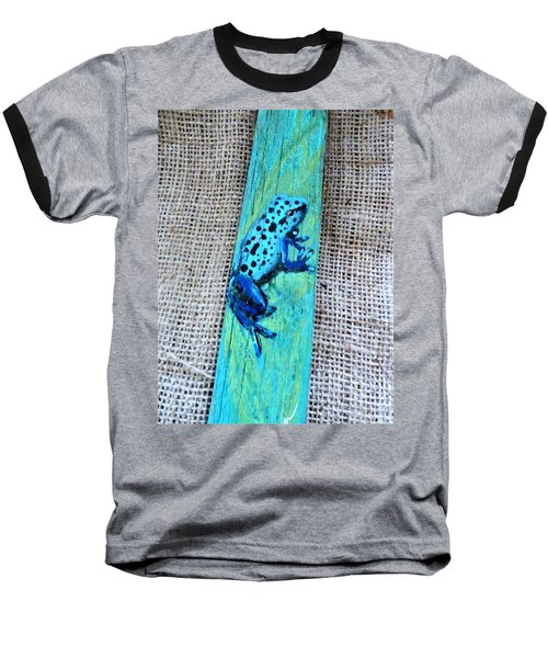 Blue-spotted Tree Frog Baseball T-Shirt