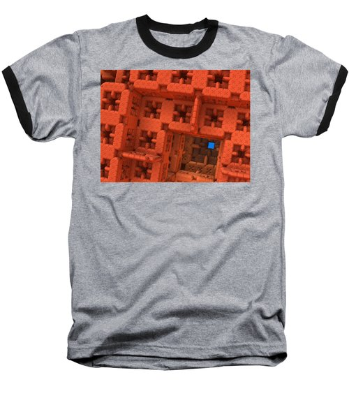 Baseball T-Shirt featuring the digital art Blue Square by Lyle Hatch