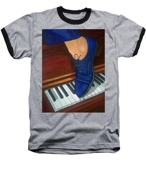 Blue Suede Shoes Baseball T-Shirt by Marlyn Boyd