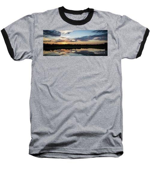 Blue Sunset 2 Baseball T-Shirt