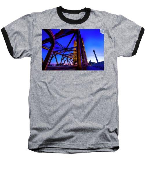 Blue Sunset- Baseball T-Shirt