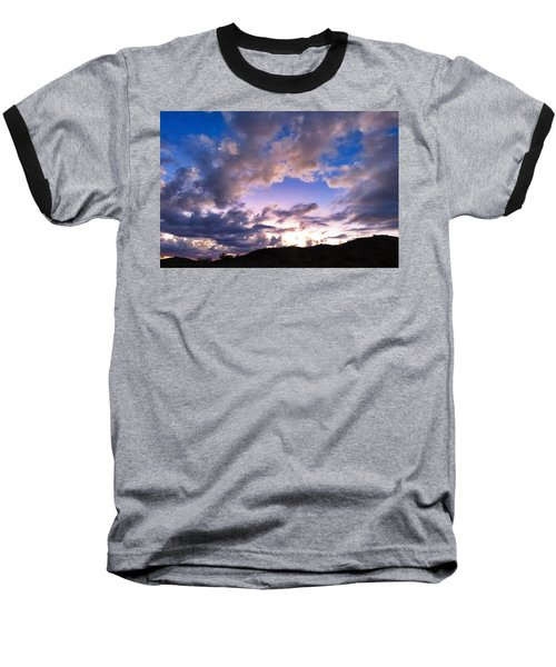 Blue Sunset Baseball T-Shirt