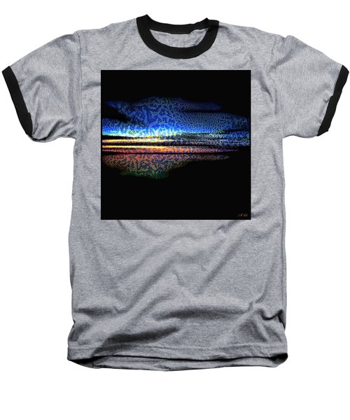 Blue Sunset On The Lake  Baseball T-Shirt