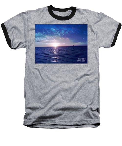 Baseball T-Shirt featuring the photograph Blue Sunset by Vicky Tarcau