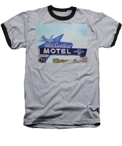Blue Swallow Baseball T-Shirt