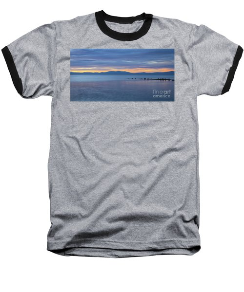 Blue Tahoe Sunset Baseball T-Shirt