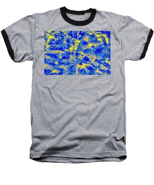Blue Tango Floral Baseball T-Shirt