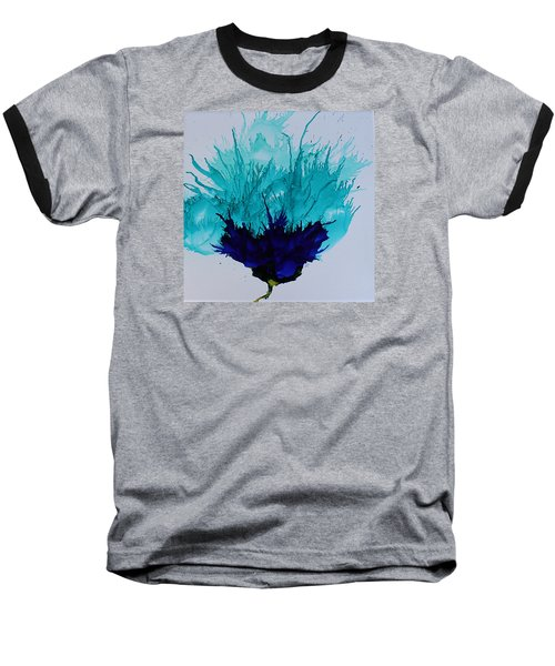 Baseball T-Shirt featuring the painting Blue Thistle by Suzanne Canner
