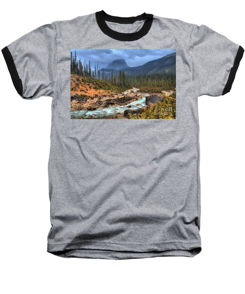 Baseball T-Shirt featuring the photograph Blue Through The Yoho Valley by Adam Jewell