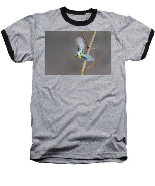 Blue Tit In Flight Baseball T-Shirt