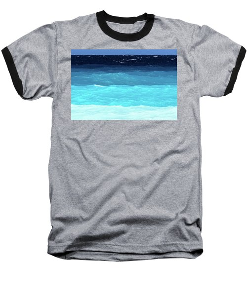 Blue Tones Of Ionian Sea Baseball T-Shirt