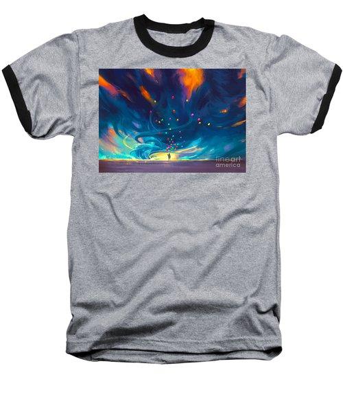 Blue Tornado Baseball T-Shirt
