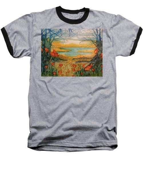 Blue Trees Baseball T-Shirt