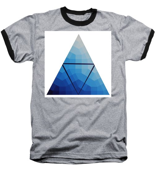 Blue Triangle - Wave Of Blue - Image #10 Baseball T-Shirt by Peter Mooyman