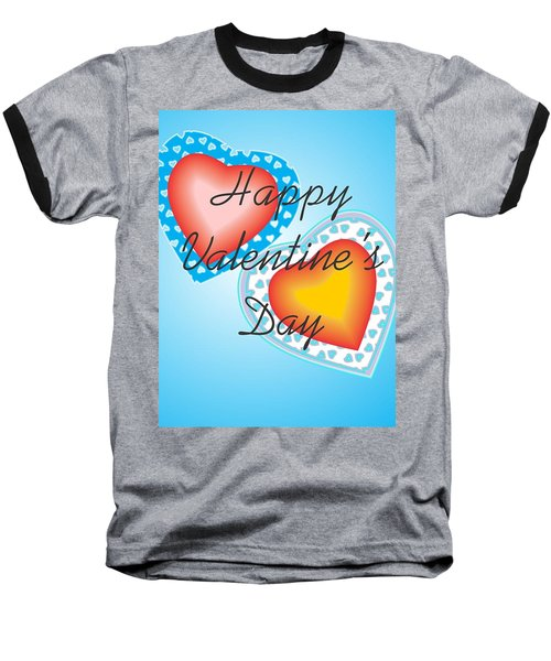 Baseball T-Shirt featuring the digital art Blue Valentine Lace  by Sherril Porter