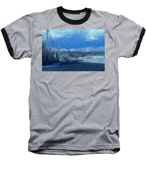 Blue Vegas Baseball T-Shirt