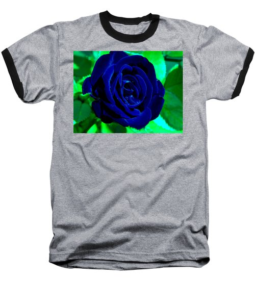 Blue Velvet Rose Baseball T-Shirt