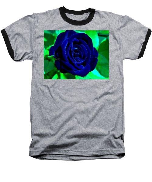 Blue Velvet Rose Baseball T-Shirt