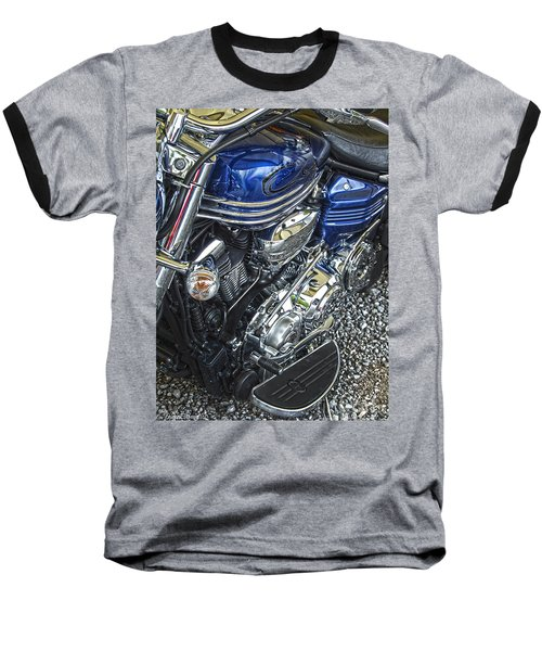 Blue Warrior Hdr Baseball T-Shirt