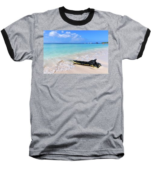 Blue Water And White Sand Baseball T-Shirt
