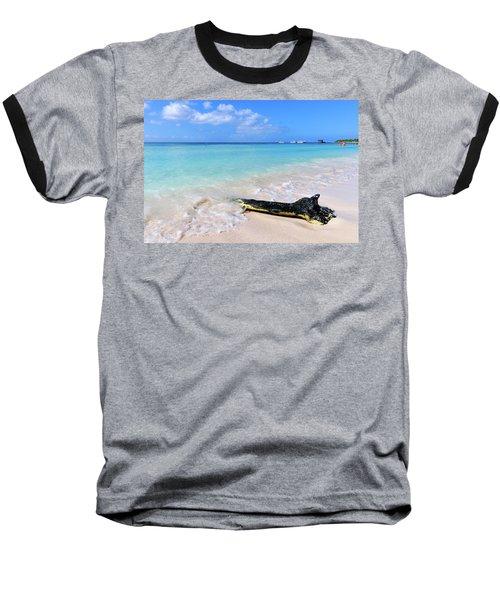Blue Water And White Sand Baseball T-Shirt