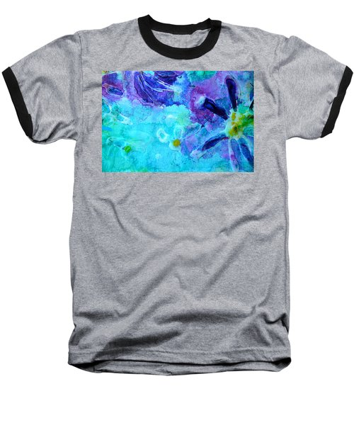 Blue Water Flower Baseball T-Shirt