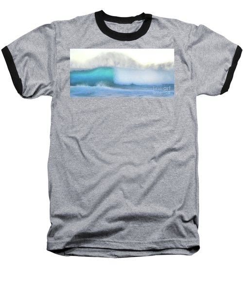 Baseball T-Shirt featuring the photograph Blue Wave by Kristine Merc