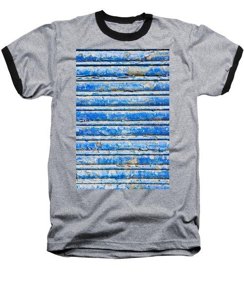 Blue Weathered Metal  Baseball T-Shirt