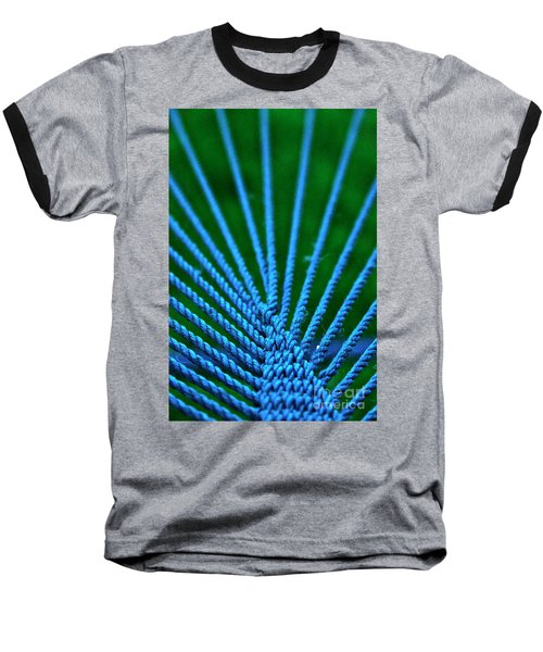 Blue Weave Baseball T-Shirt