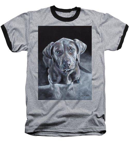 Blue Weimaraner Baseball T-Shirt