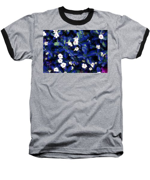 Blue White I Baseball T-Shirt