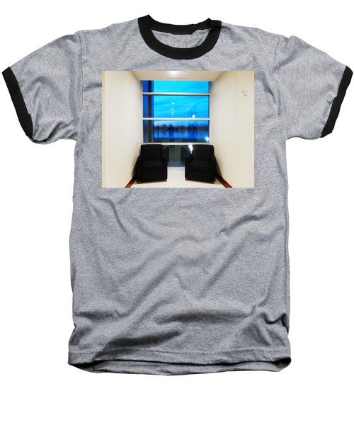 Blue Window Baseball T-Shirt