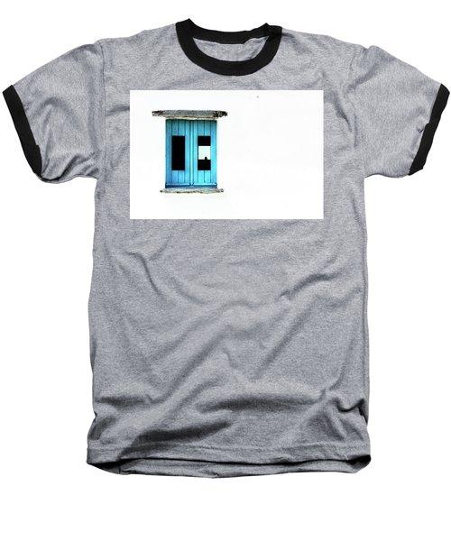 Baseball T-Shirt featuring the photograph Blue Window by Edgar Laureano