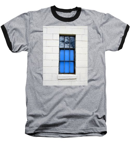 Blue Window Panes Baseball T-Shirt