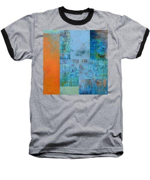 Blue With Orange 2.0 Baseball T-Shirt