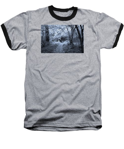 Blue Wood Baseball T-Shirt