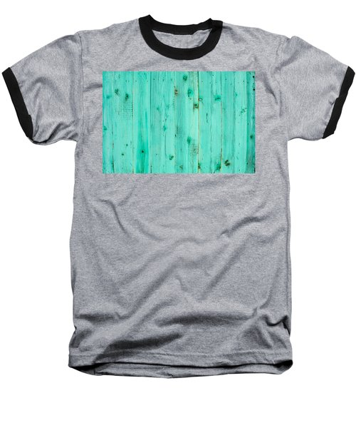Baseball T-Shirt featuring the photograph Blue Wooden Planks by John Williams