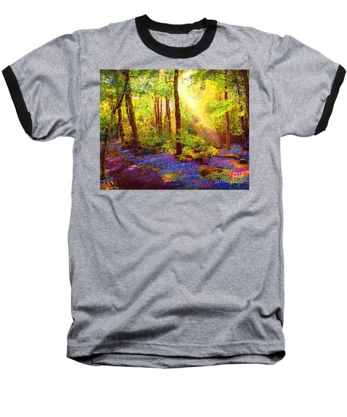 Baseball T-Shirt featuring the painting Bluebell Blessing by Jane Small